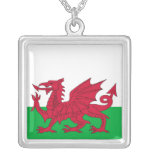 Elegant Necklace with Flag of Wales