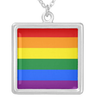 Elegant Necklace with LGBT Rainbow Flag