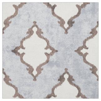 elegant neutral beige damask ikat tribal patterns fabric