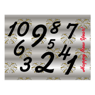 Elegant New Year Countdown Postcard