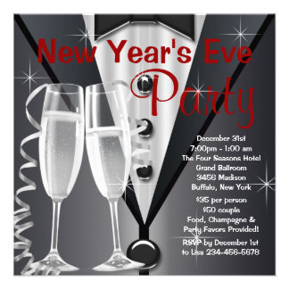 Elegant New Years Eve Party Personalized Invite