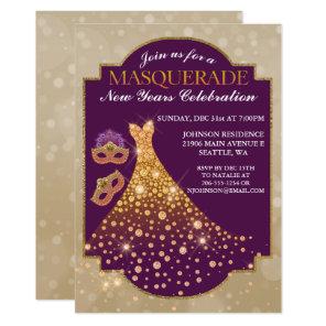 Elegant New Years Masquerade Invitation