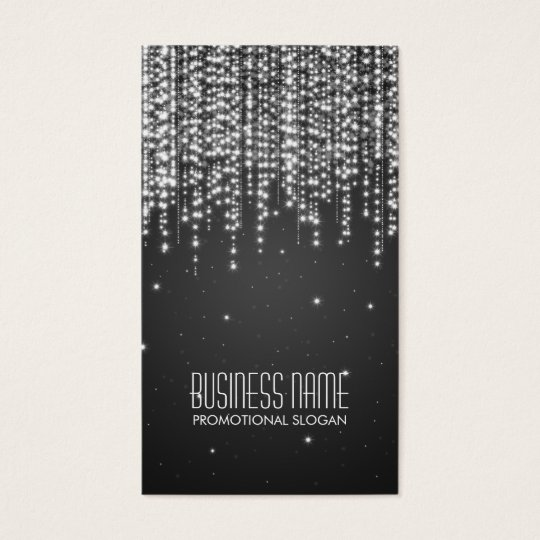 Elegant Night Dazzle Black Business Card