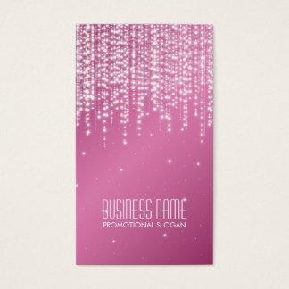 Elegant Night Dazzle Pink Business Card