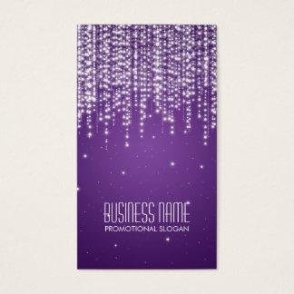 Elegant Night Dazzle Purple Business Card