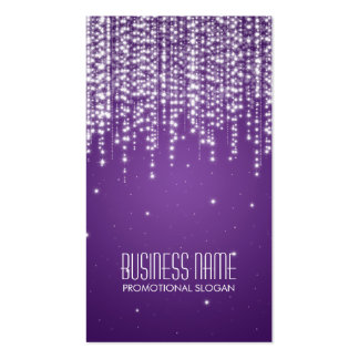 Elegant Night Dazzle Purple Pack Of Standard Business Cards
