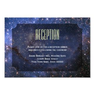 Elegant Night Sky / Space Theme Reception Card 9 Cm X 13 Cm Invitation Card