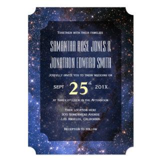 Elegant Night Sky / Space Theme Wedding Invitation