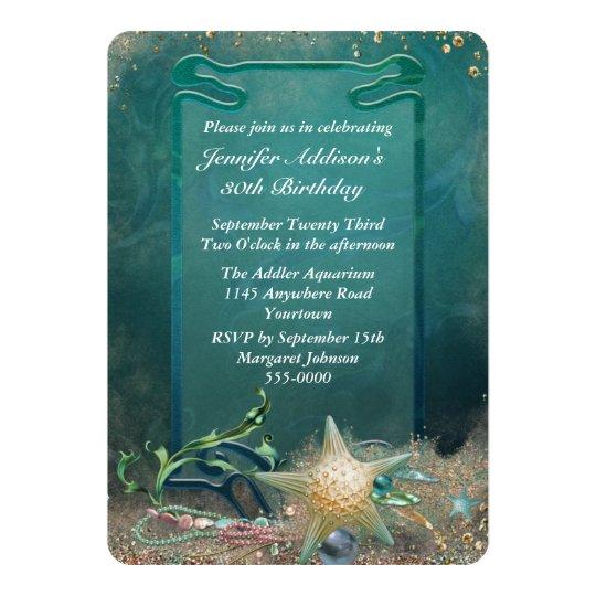 Elegant Ocean Theme Birthday Card
