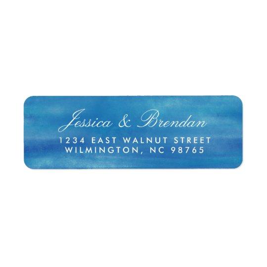 Elegant Ocean Watercolor Return Address Labels