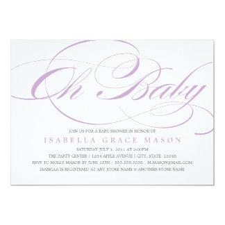 Elegant Oh Baby | Baby Shower Invitation