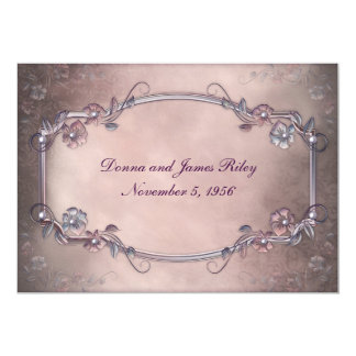Elegant Old-Fashioned Vow Renewal 13 Cm X 18 Cm Invitation Card