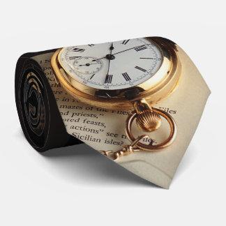 Elegant Old Stylish Clock Tie