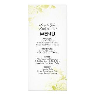 Elegant olive green rose bouquet wedding vr6 custom rack cards