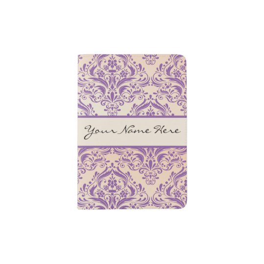 Elegant Ombre Damask - Pink and Lilac Passport