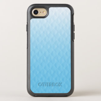 Elegant Ombre Sky Blue Geometric Design OtterBox Symmetry iPhone 7 Case