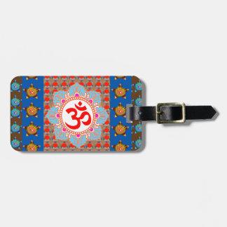 Elegant OmMANTRA Mantra: Yoga Meditation Healing A Luggage Tag