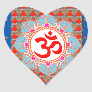 Elegant OmMANTRA Mantra: Yoga Meditation Healing A Sticker