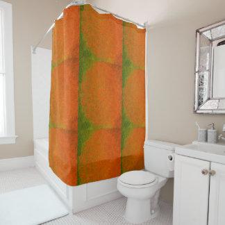 Elegant Orange and Deep Green Mandala Shower Shower Curtain