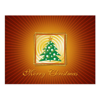 Elegant Orange Christmas Greetings Postcard