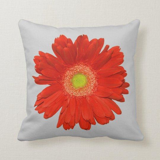 Elegant Orange Gerbera Daisy Throw Pillow