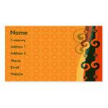 Elegant Orange Pack Of Standard Business Cards
