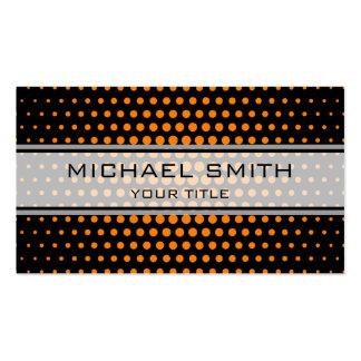 Elegant Orange Polka Dot Pattern Pack Of Standard Business Cards