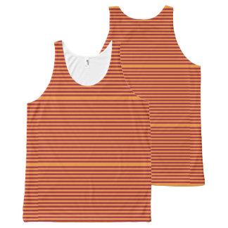 Elegant Orange Stripes on Burgundy. All-Over Print Tank Top