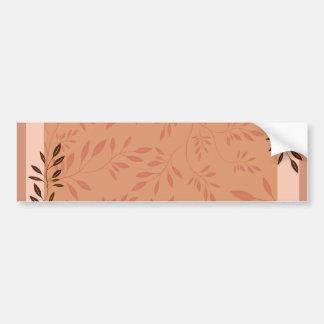 Elegant Orange swirl birthday gift Bumper Stickers