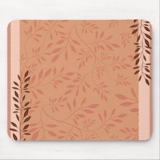 Elegant Orange swirl birthday gift Mousepads