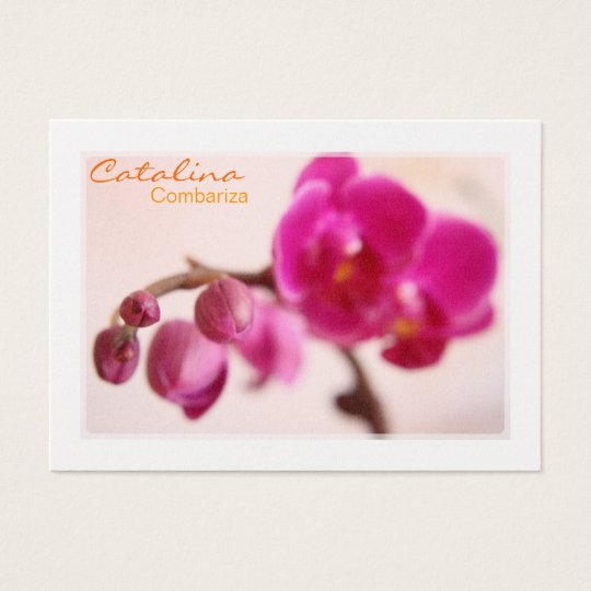 Elegant Orchid Business Card