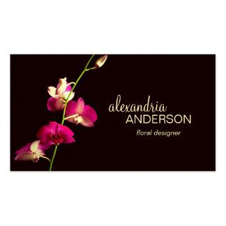 Elegant Orchid Designer Business Card