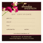 Elegant Orchid Gift Certificate Personalized Announcement
