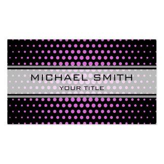 Elegant Orchid Polka Dot Pattern Pack Of Standard Business Cards