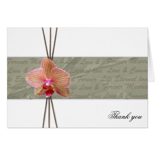 Elegant Orchid Thank you - Customised Card
