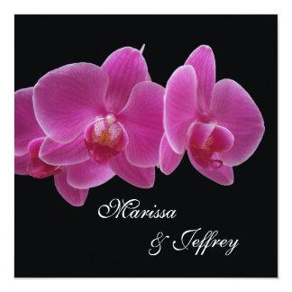 Elegant Orchid Wedding Invitation - Purple Orchids