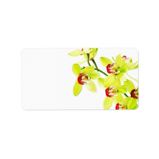 Elegant Orchid Wedding or General Blank Label