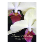 Elegant Orchids Formal Wedding Invitations 5x7