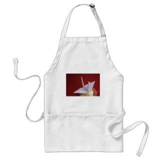 elegant origami crane standard apron