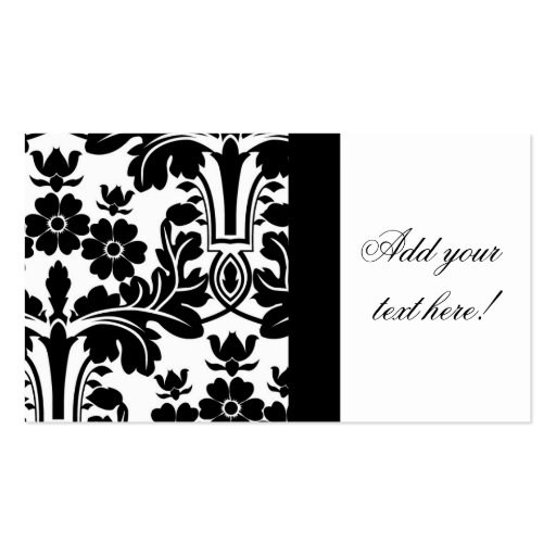 Elegant Ornate Damask Pattern Business Card