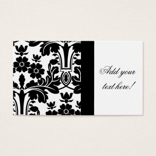 Elegant Ornate Damask Pattern Business Card