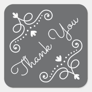Elegant ornate decorations baby shower thank you square sticker