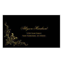 Elegant Ornate Gold Swirls on Black