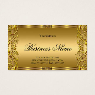 Elegant Ornate Royal Golden Gold Business Card