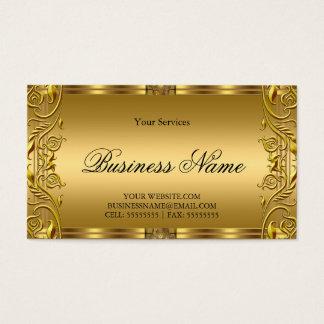 Elegant Ornate Royal Golden Gold Business Card