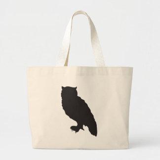 Elegant owl black silhouette vector graphic bags