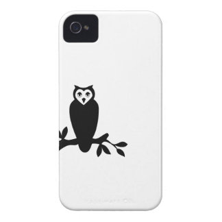 Elegant owl & branch silhouette vector graphic 4S iPhone 4 Case-Mate Case