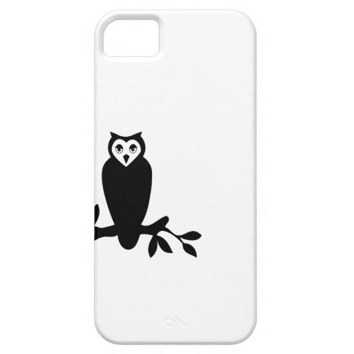 Elegant owl & branch silhouette vector graphic  iPhone 5 covers