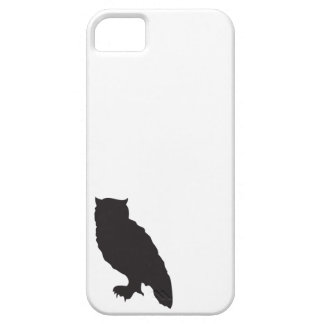 Elegant owl owls black silhouette vector graphic iPhone 5 covers