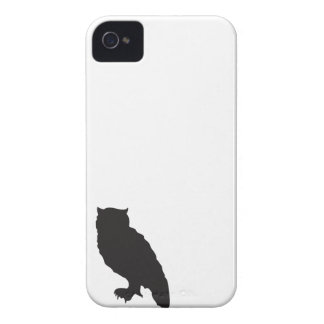 Elegant owl owls black silhouette vector graphic iPhone 4 cases